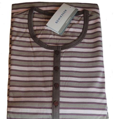 M//38 SCHIESSER Sleepshirt Nachthemd braun lange Ärmel Gr