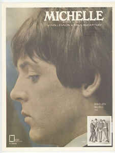 VTG-1965-BEATLES-SONG-MICHELLE-SHEET-MUSIC-EXCELLENT