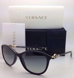6af25745d2 New VERSACE Sunglasses VE 4251 GB1/11 57-17 Black w/ Grey gradient ...