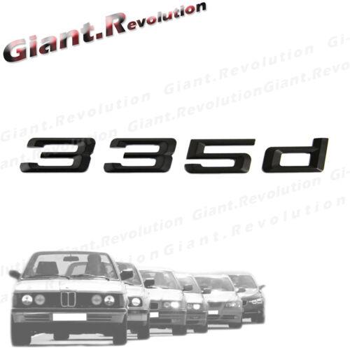 For BMW F30 F31 3-Series Model 335d 3D Black Trunk Lid Emblem Hood Badge Sticker