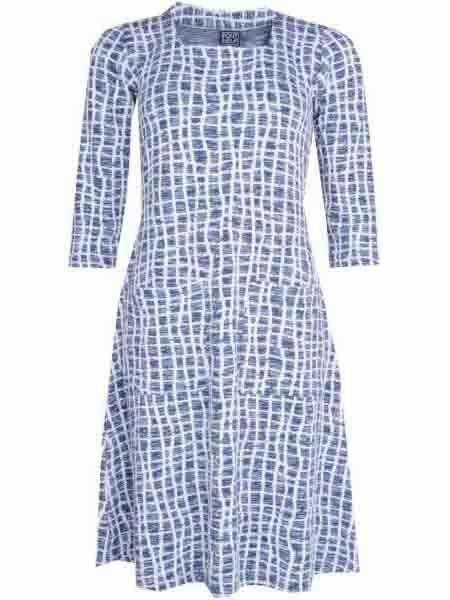 20% Dress Knit from Pont Neuf Size 42 48 bluee bluee bluee off White Layered Look Denmark a3f33c