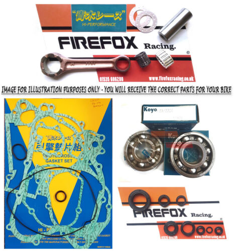 Honda CR125 1998 - 1999 Mitaka Bottom End Rebuild Kit Rod Gaskets Bearings Seals
