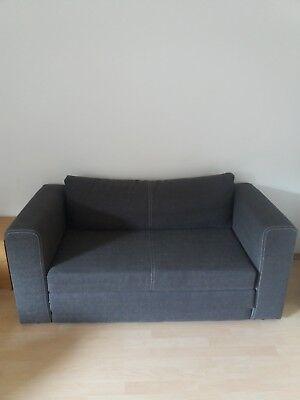 zweisitzer sofa gebraucht mit schlaffunktion in farbe grau 80 ebay
