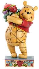 Jim Shore WINNIE THE POOH WITH FLOWERS Figurine Disney Traditions Enesco 4031479