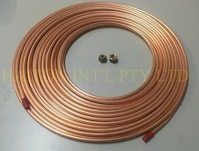 "Air-Con pipe tube /copper pancake coil  3/8"" x 3M roll & 2 pcs 3/8"" flare nuts"