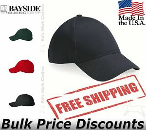 Bayside-Mens-Baseball-USA-Made-Structured-Cap-Hat-3660-six-panel-mid-profile