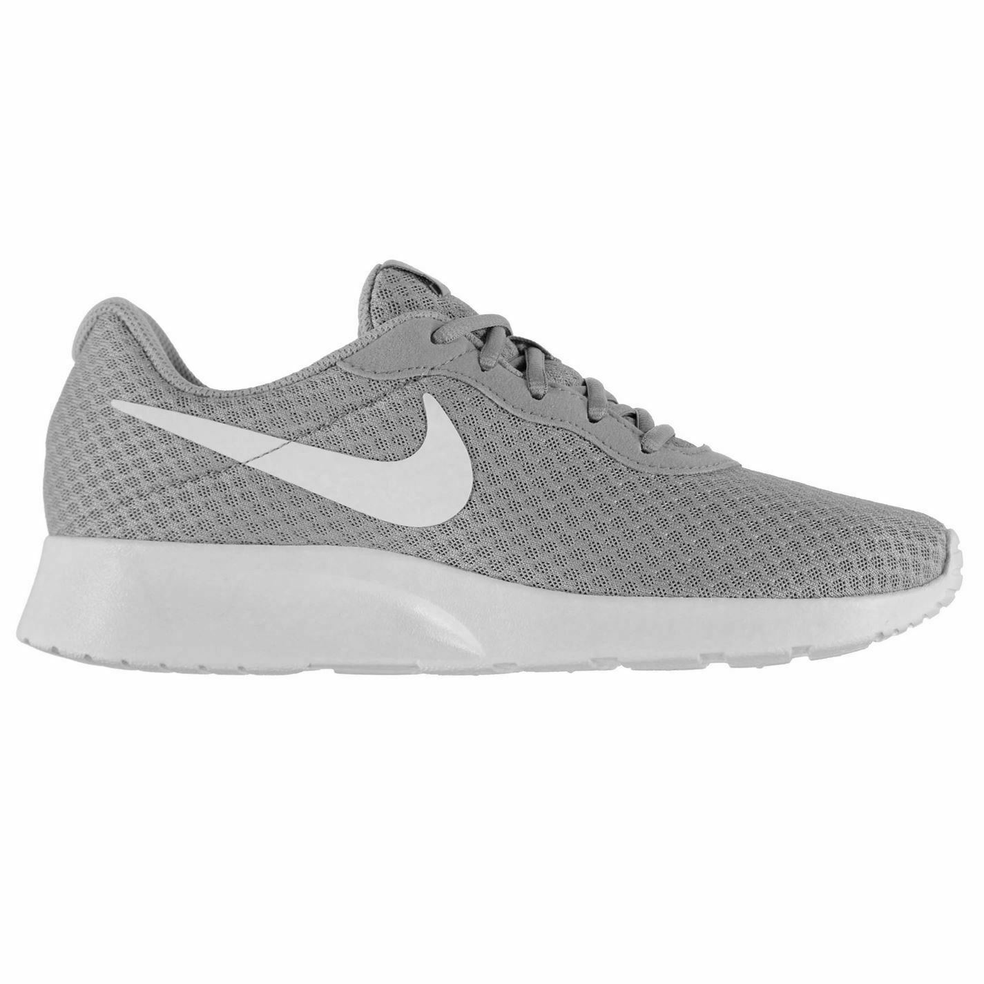 Nike Tanjun Training shoes Mens Grey White Sports Fitness Trainers Sneakers