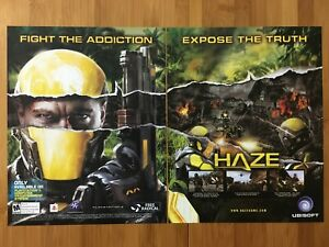 Haze-PS3-Playstation-3-2008-Vintage-Poster-Ad-Print-Art-Official-Timesplitters