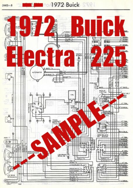 1972 Buick Electra 225 Full Car Wiring Diagram  High
