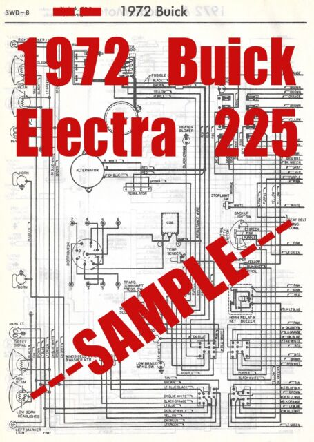 1972 Buick Electra 225 Full Car Wiring Diagram *High ...
