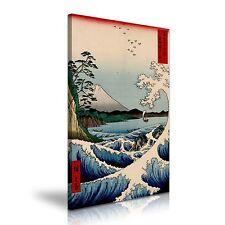 Mount Fuji Tree Wave Hiroshige Japanese Oriental Canvas Print 50 cm x 76 cm