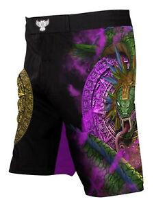 Raven Fightwear Men's Quetzalcoatl Aztec MMA Shorts Black
