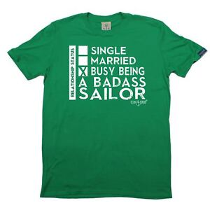 Sailing Busy Being A Badass Sailor yacht crew funny Birthday T-SHIRT