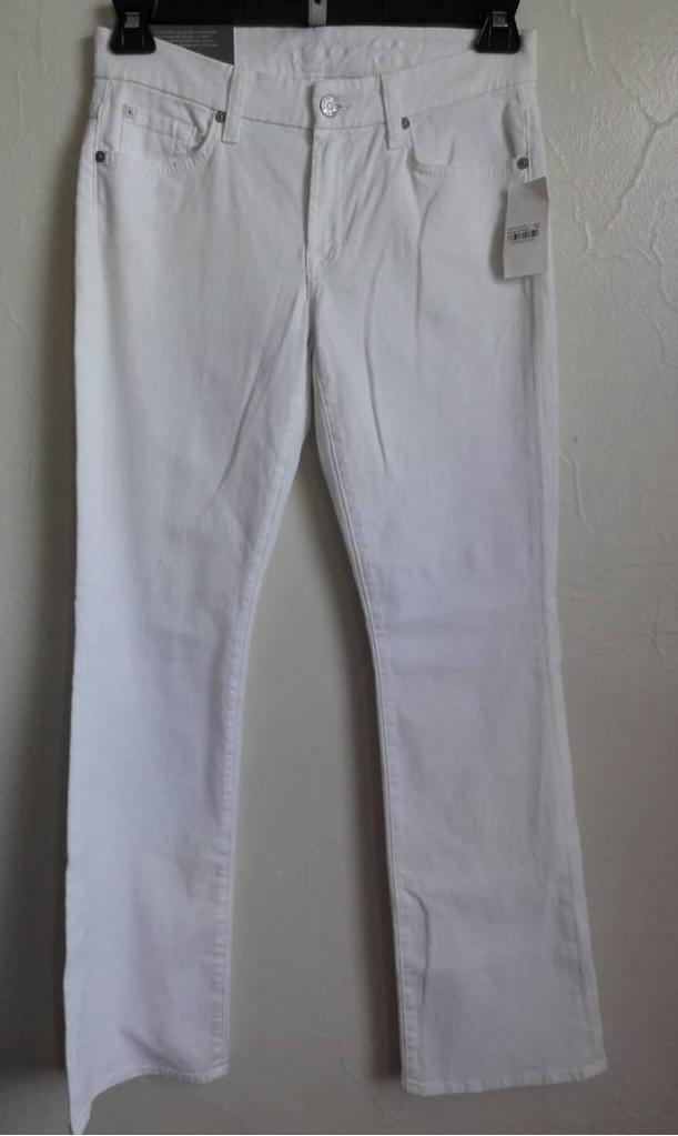 SEVEN FOR ALL MANKIND KIMMIE BOOTCUT JEANS, Clean white, Size 29 Short, MSRP
