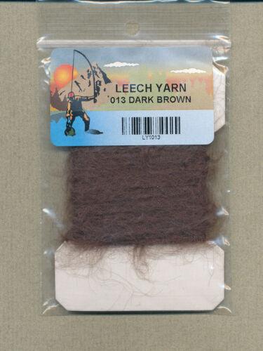 Leech Yarn mohair dark brown     LY-22