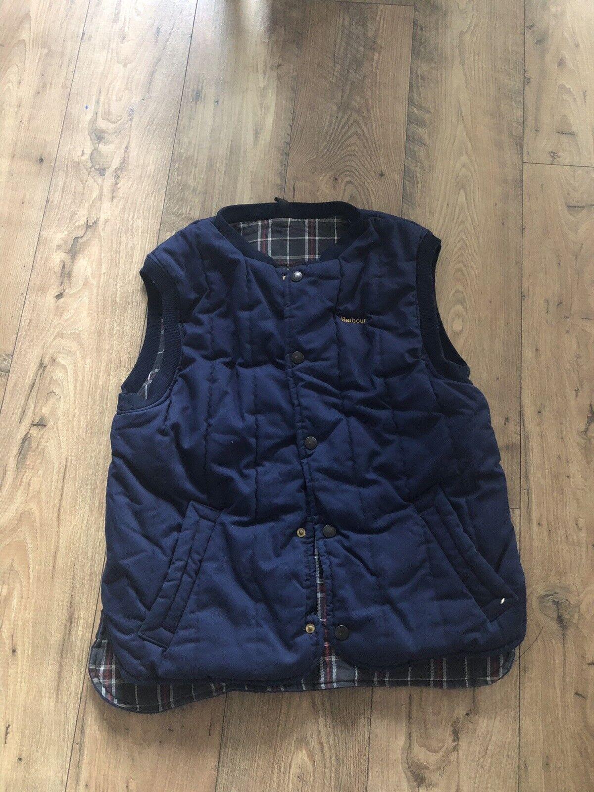 Vintage BARBOUR Trekker Padded Waistcoat Vest Gilet Bodywarmer Men Größe Medium