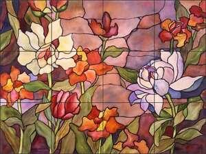 Floral-Tile-Backsplash-McEachron-Flower-Art-Ceramic-Kitchen-Mural-RW-AM011