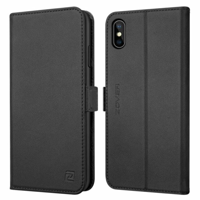 ZOVER iPhone XS case Black X notebook double-sided magnet magnetic F/S w/Track#