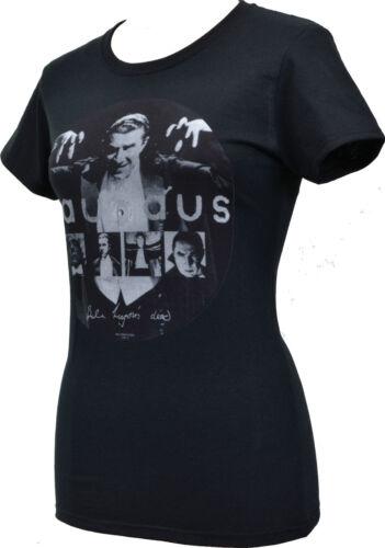 LADIES BLACK T-SHIRT BAUHAUS BELA LUGOSI/'S DEAD RECORD GOTH ROCK VINYL S-2XL