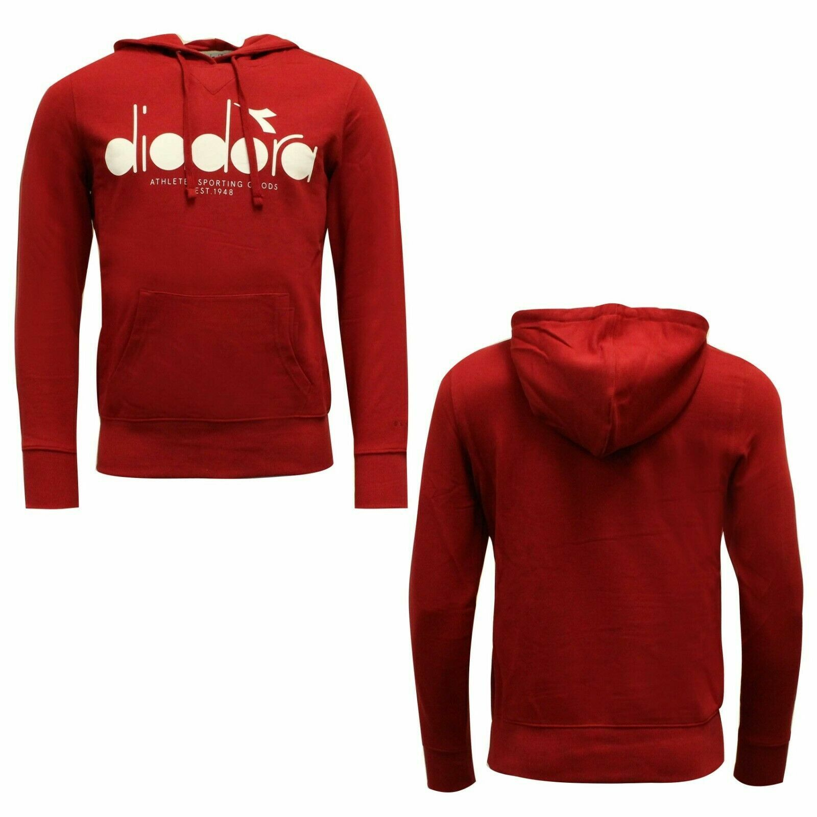 Diadora Sportswear Mens Hoodie Sweatshirt Jumper Red 502 173623 45080 A49B