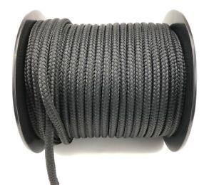 Copieux 18 Mm En Polyester Noir X 30 Mètres, Tresse Sur Tresse Marine Double Tresse Corde-afficher Le Titre D'origine