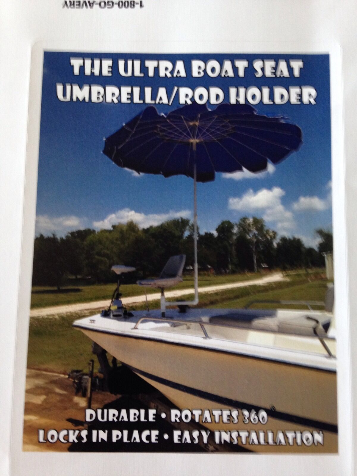 The Ultra Boat Seat Umbrella   Rod Holder water boating shade crabbing pontoon