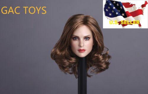 1//6 testa Corta Donna Capelli Castani GC005B//Phicen Hot Toys kumik ❶ USA in magazzino ❶