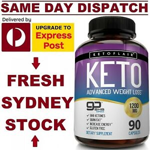 KetoFlair-KETO-BHB-Diet-Pills-ADVANCED-WEIGHT-LOSS-KETOSIS-1200mg-90-Caps-VALUE