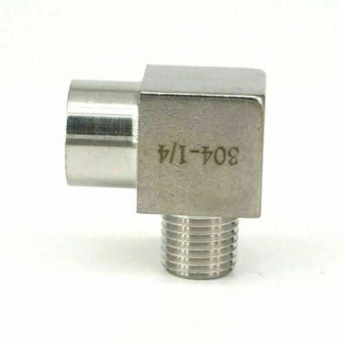 """1//8/""""1//4/""""3//8/""""1//2/"""" BSPP Female to BSPT Male Elbow Stainless Steel Pipe Fitting set"""