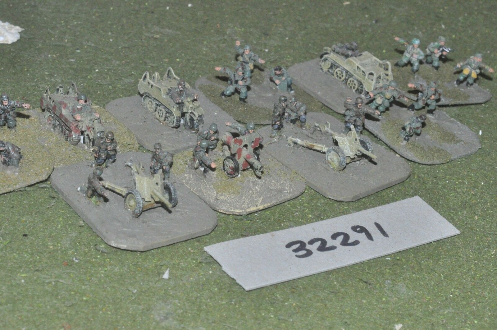 15mm WW2   german - 3 guns & crews - art (32291)