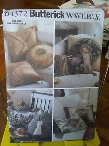 Oop-Butterick-Waverly-4372-easy-to-do-pillow-covers-all-sizes-NEW