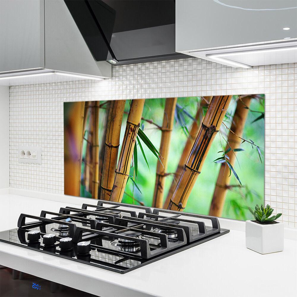 Crédence de cuisine en verre Panneau 120x60 Nature Bambou