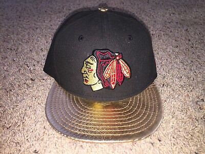 differently online shop differently Chicago Blackhawks New Era 9Fifty Gold Metallic Brim Snapback Hat ...