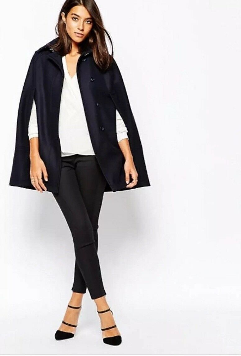 Reiss Cavalier Cape Coat In Night Navy M NEW RRP  Sold Out