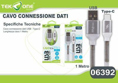 Ambizioso Cavo Dati Usb Tekone 15a Connettore Type-c Tipo C 2.1a 1mt Smartphone Hsb Superficie Lucente