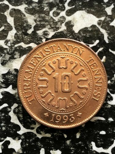 1993 Turkmenistan 10 Tenge 42 Available Beautiful! 1 Coin Only High Grade