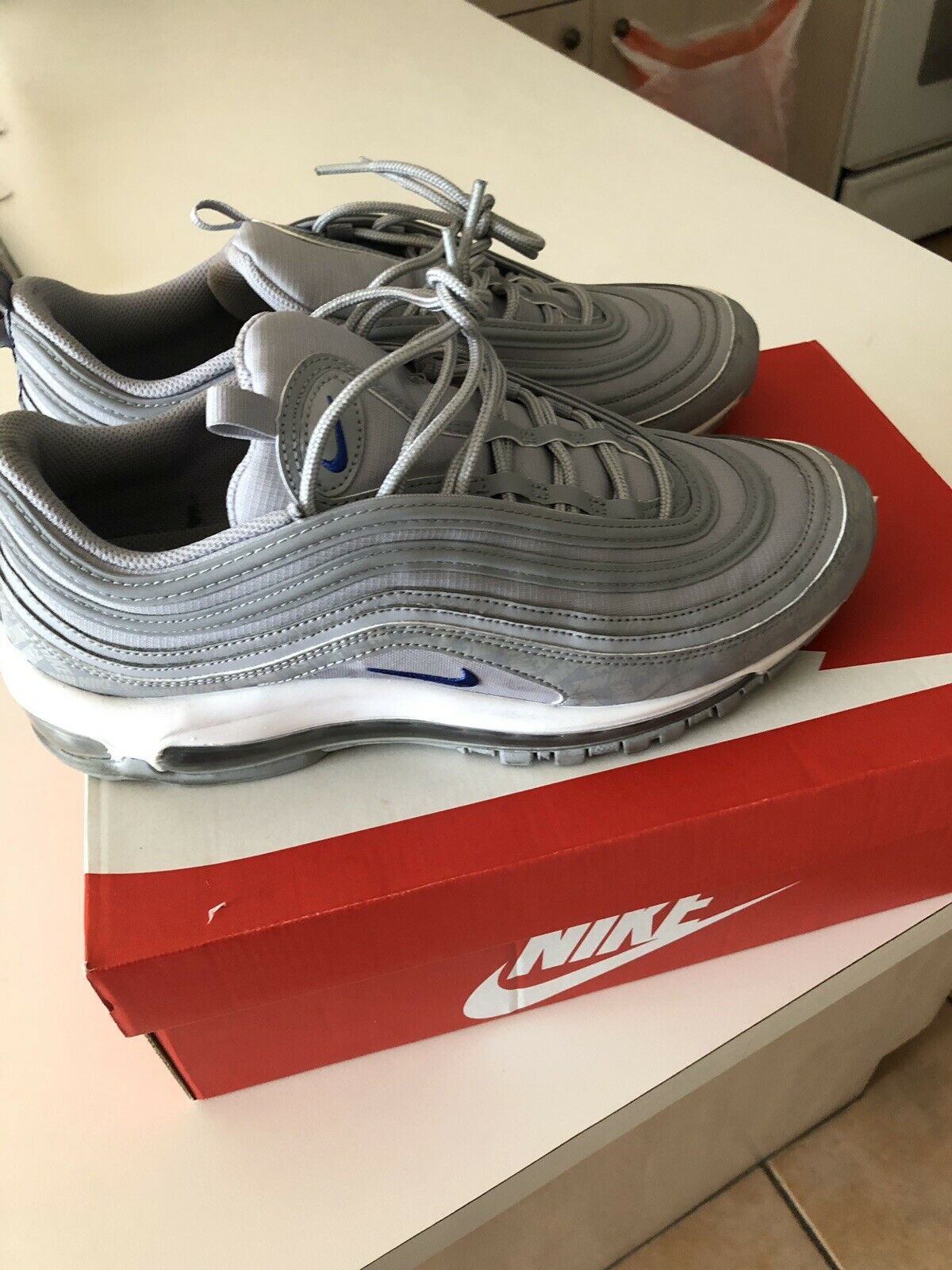 Nike Air Max 97 Wolf Grey Game Royal Size 10 Preowned