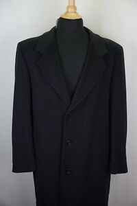 Saks Fifth Avenue VTG Loro Piana 100% Cashmere Mens Dress Overcoat Sz 40R