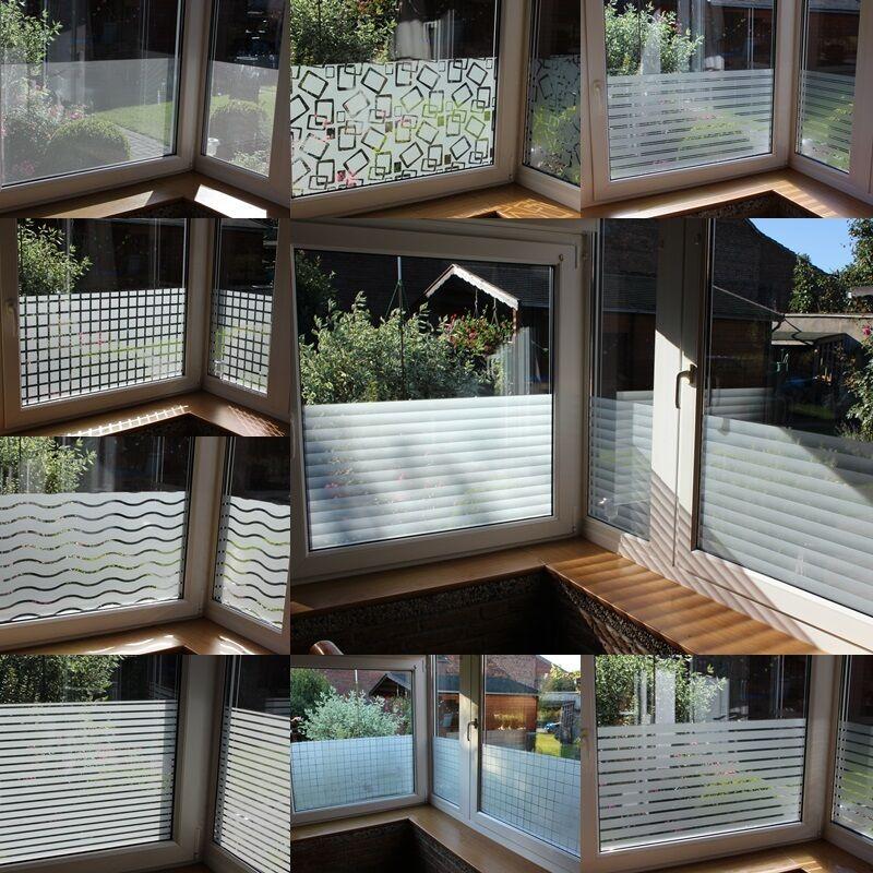 m² Fensterfolie Milchglas Sichtschutz Folien Selbstklebend Dekor Folie | Lebensecht