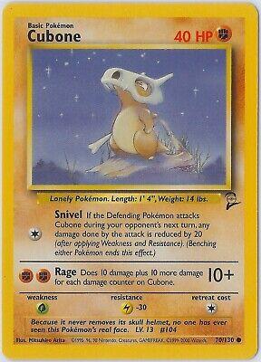 Save 35/%! CUBONE 70//130 Base Set 2 Common Vintage 1999 Pokemon Buy 4