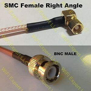 USA-CA RG174 SMA MALE ANGLE to N MALE Coaxial RF Pigtail Cable