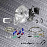 Hi Rpm Output Turbo Charger T3/t4 To4e .63 A/r +oil Feed Return Lines Universal