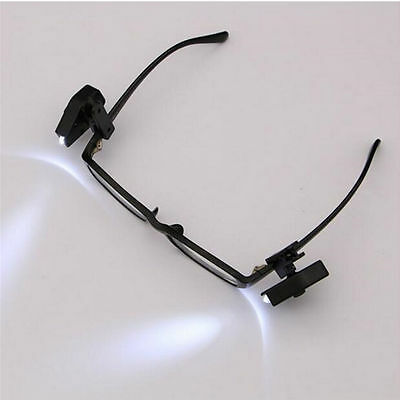 Hot Reading Glasses LED Portable Light Head Torch Clip On Safety Watch Tool ON07