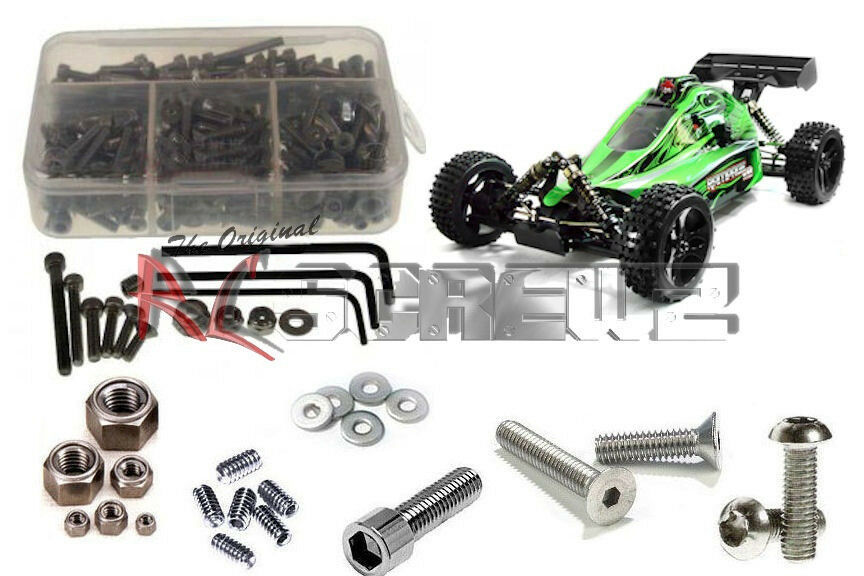 RC Screwz RCR012 rojocat Racing Rampage XB Complete Stainless Hardware Kit NEW