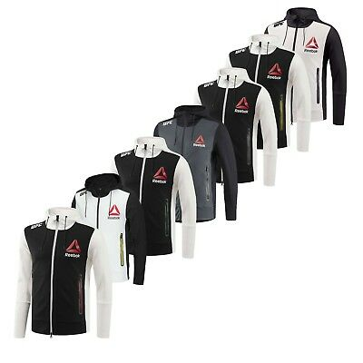 Reebok Herren x UFC FK demonstrativ Volle Reißverschluss Langarm Kapuzenpullover Zipped Pocket Jacket | eBay