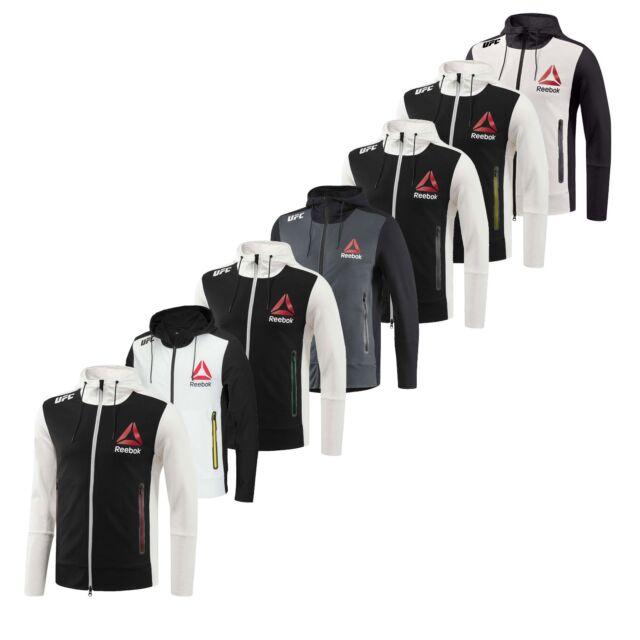 Einzelhandelspreise Billiger Preis am besten bewertet neuesten Reebok Herren x UFC FK demonstrativ Volle Reißverschluss Langarm  Kapuzenpullover Zipped Pocket Jacket