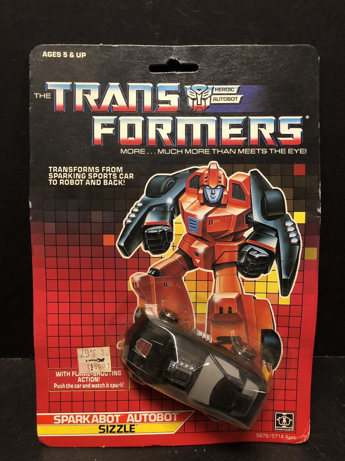 Original Vintage 1987 Transformers G1 Sizzle Autobot In Package AM0018