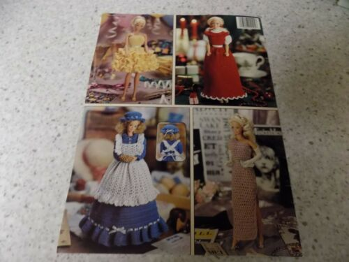 Crochet 14 page leaflet FASHION DOLL DRESSES pattern book Leisure Arts crafts