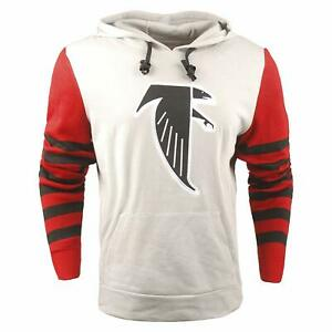4834f0eb Details about FOCO NFL Men's Atlanta Falcons Retro Knit Sleeve Hooded  Sweater