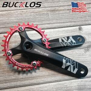 BUCKLOS 104BCD Crankset 170mm Crank Arms 32-52t AL7075 MTB Narrow Wide Chainring